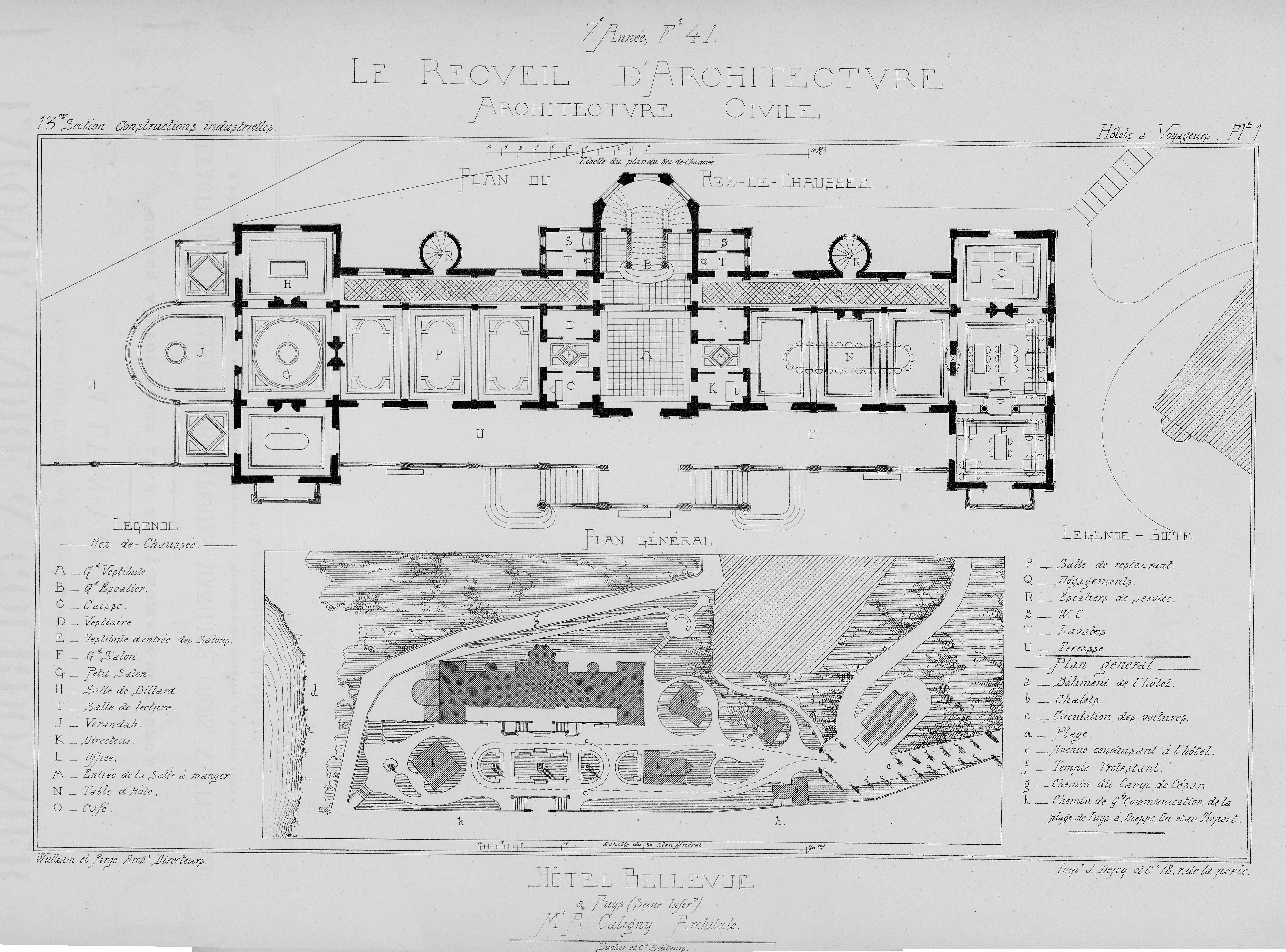 à droite dans le premier lacet de la sente de jérusalem actuellement sente du canada pour la villa on a un plan de masse en bas de limage